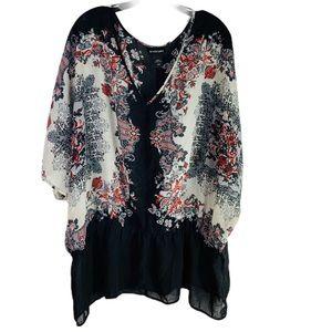 Lane Bryant Chiffon beautiful peplum style blouse